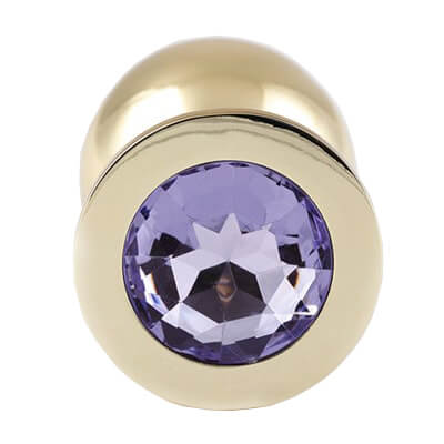 Gold Butt Plugs are very pretty so why not try one of our jewelled butt plugs baby purple gem
