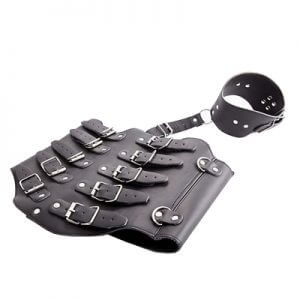 Faux Leather Corset Restraint Set