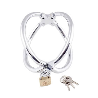 Wrist Cage are extreme restraints made from shiny stainless steel