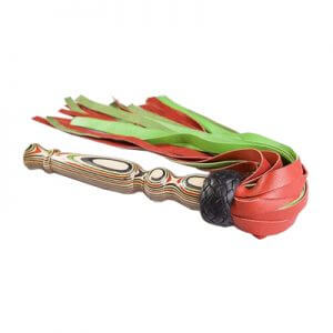 Red & Green Leather Floggers