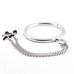Metal O Collar with Nipple Clamps