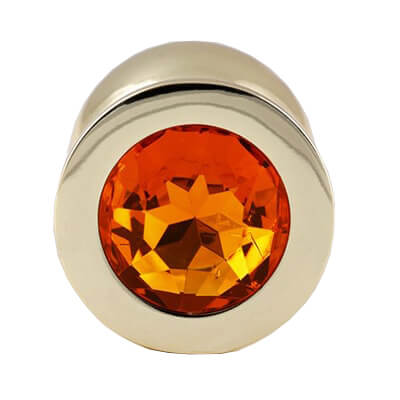 Gold Butt Plugs are very pretty so why not try one of our jewelled butt plugs with a orange gem
