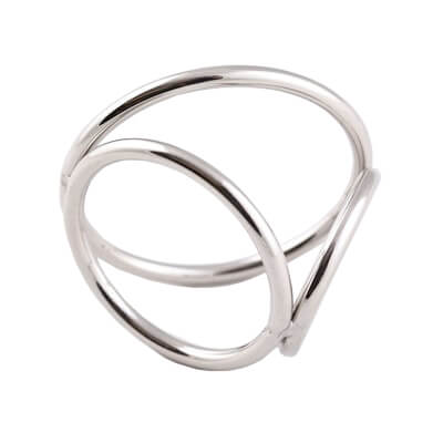 Triple Cock Ring for CBT for cock and ball torture in the BDSM world