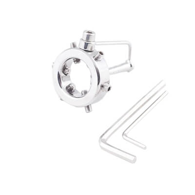Urethra Chastity Ring used in CBT cock and ball torture for urethral training