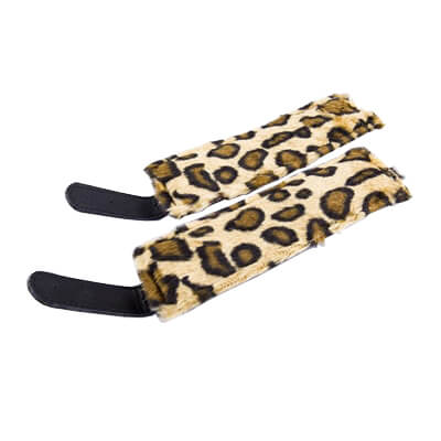 Leopard Lined Cuffs for you sexy felines in this kinky world of pleasure